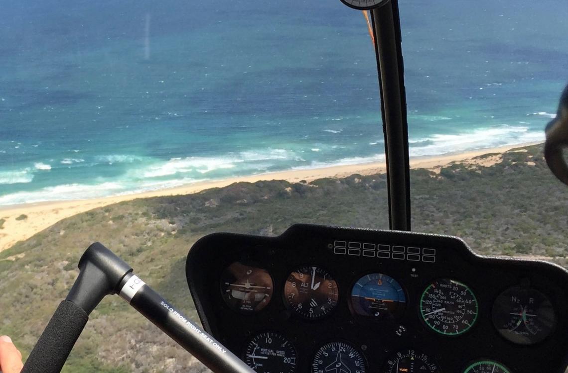 Udsigten fra helikopteren