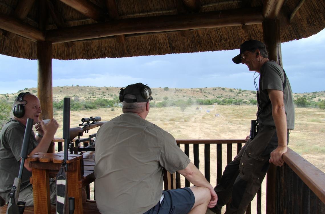 Øvelse på skydebanen