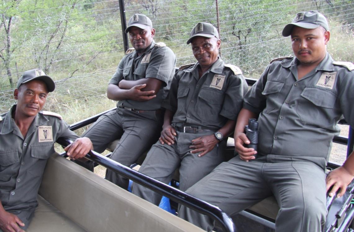 Lokale guider på dagens jagt
