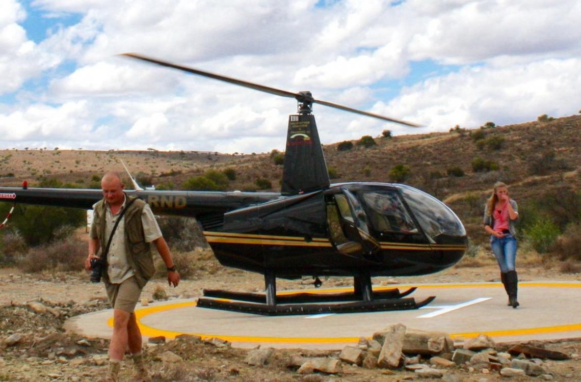 Veloverstået helikoptertur