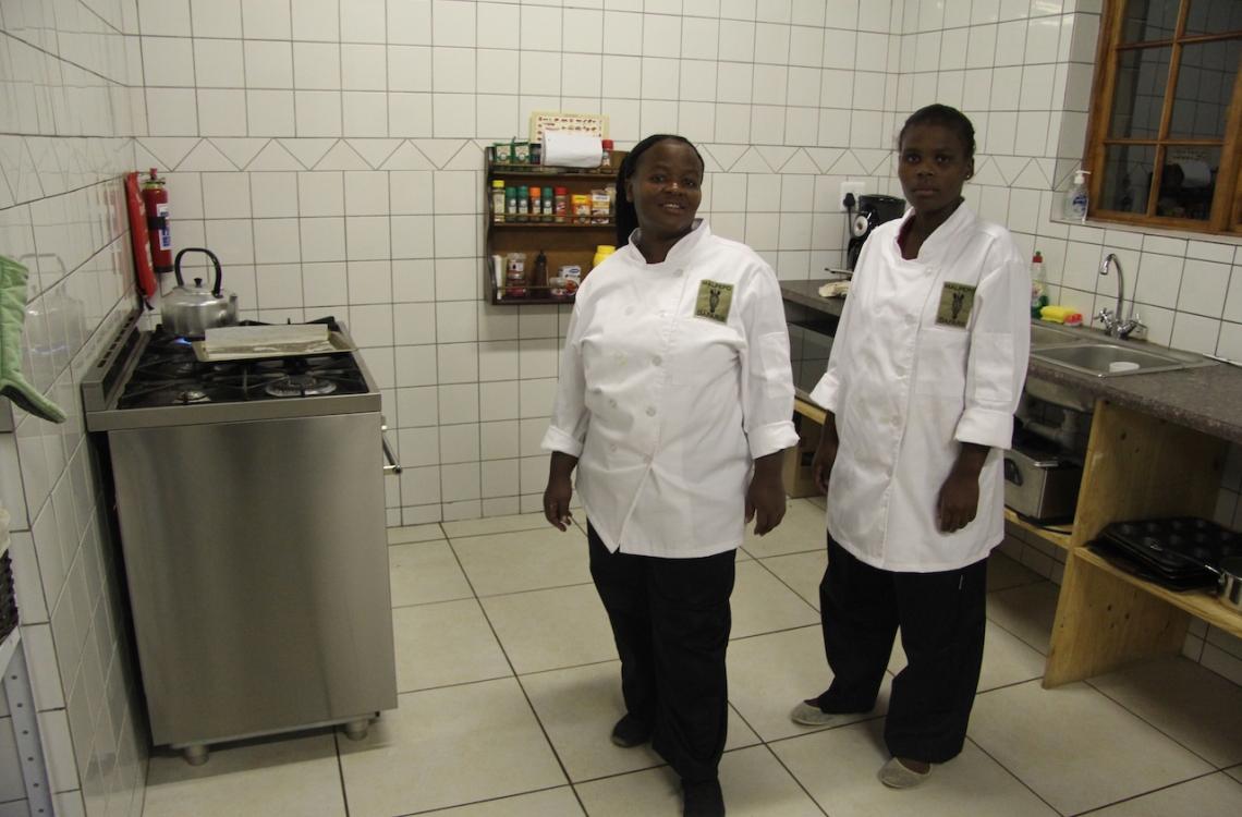 Skønt køkkenpersonale